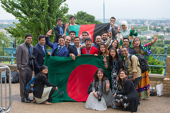 Scholars from Bangladesh at Farewell 2016
