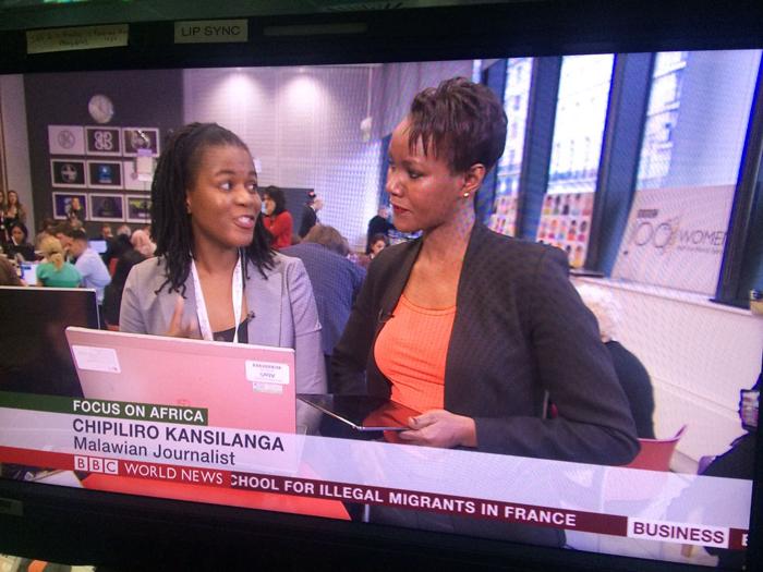 Chipiliro Kansilanga appears on BBC World News