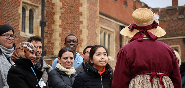 Scholars at Hampton Court Palace