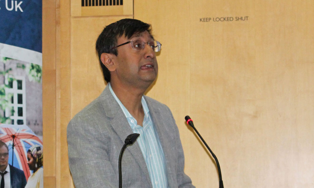 Dr Das at the British Library