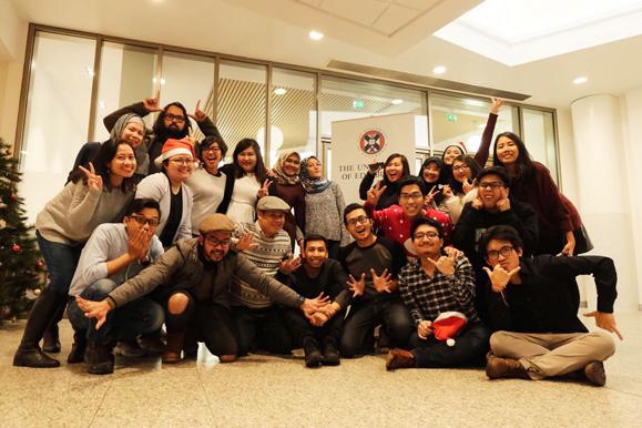 Indonesian Chevening Christmas dinner in Edinburgh