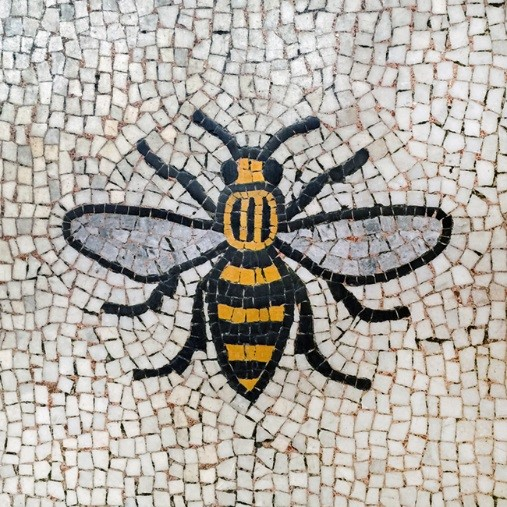 Bee mosaic in Manchester
