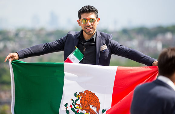 Scholar with Mexico flag