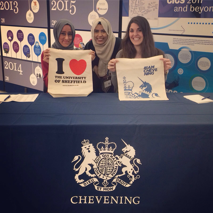 Chevening programme officers at the University of Sheffield
