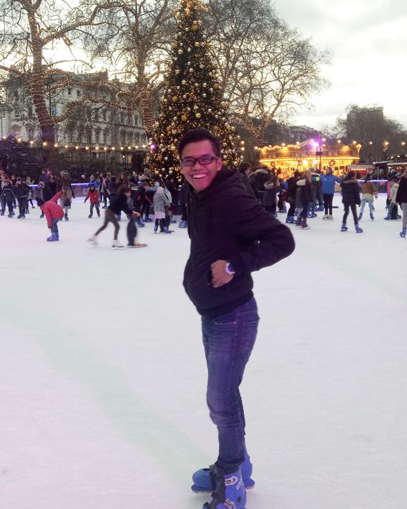 Yosea Kurnianto ice skating