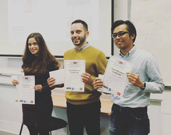 Yosea Kurniano winning a student debate in Manchester
