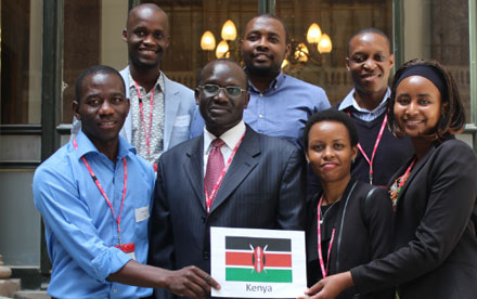 Kenyan scholars were delighted to meet their high commissioner to the UK