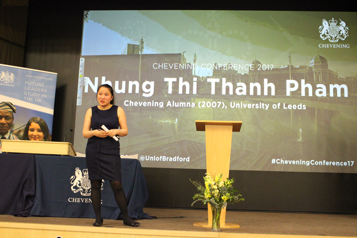 Chevening Alumna Nhung Thi Thanh Pham presents at Chevening Conference 2017