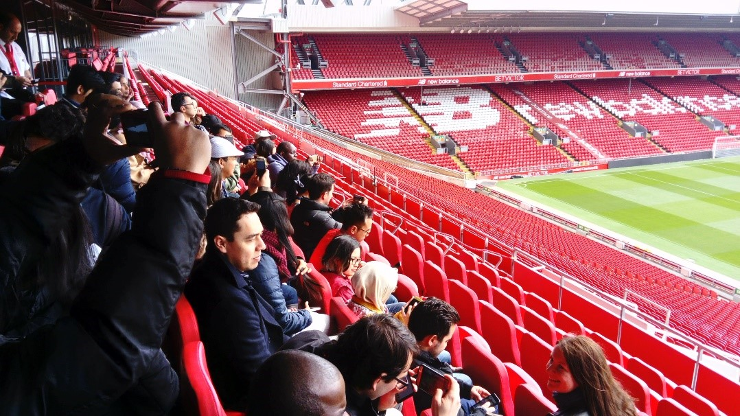 Cheveners at Anfield Stadium