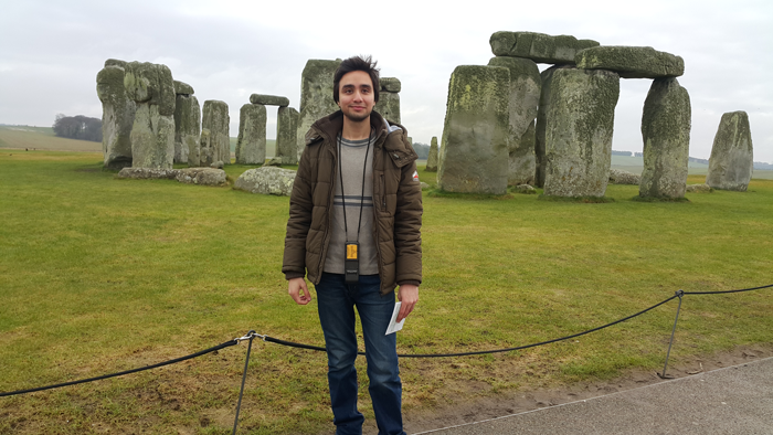 Asim at Stonhenge
