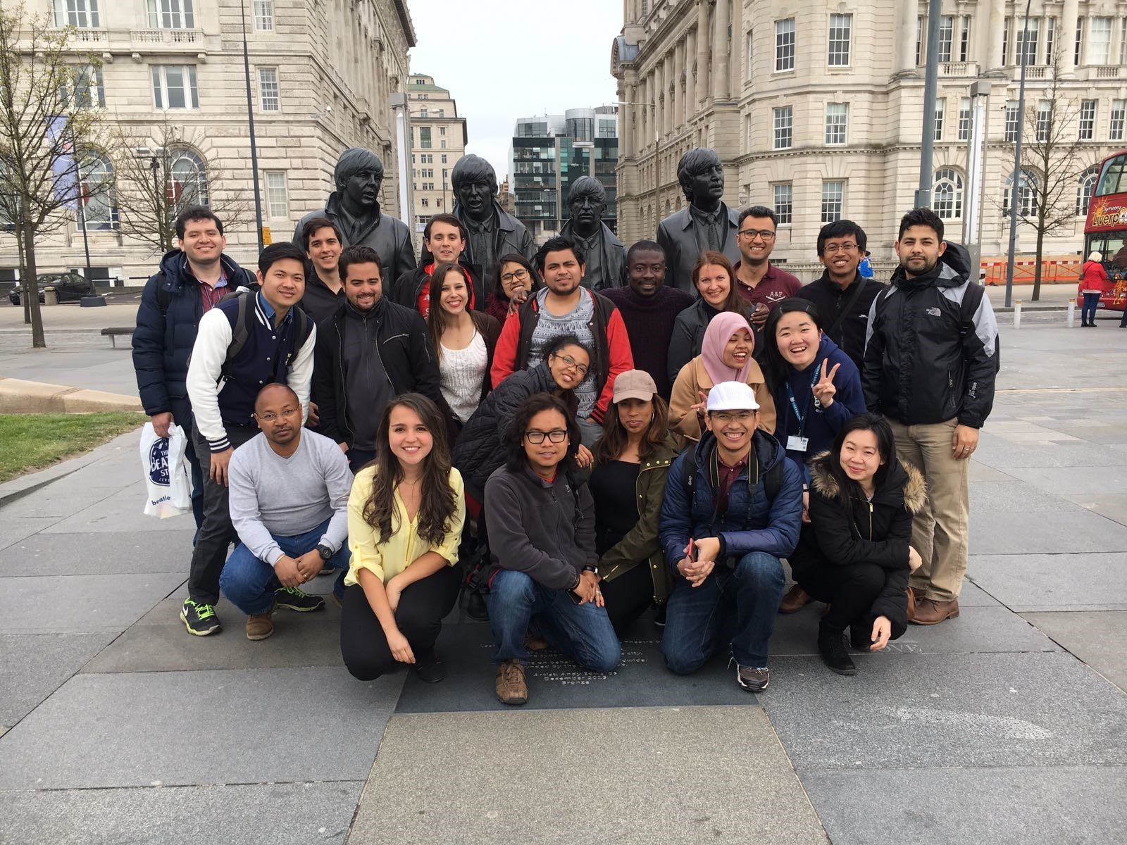 Cheveners at The Beatles Statue