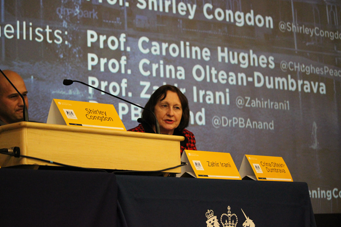 Crina Oltean-Dumbrava speaks at the Chevening Conference academic panel session