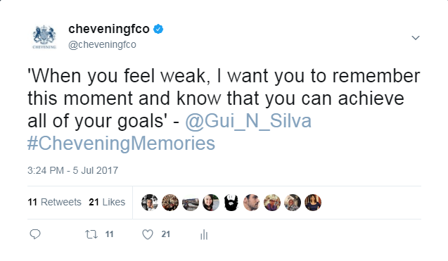 Tweet from Gui Silva
