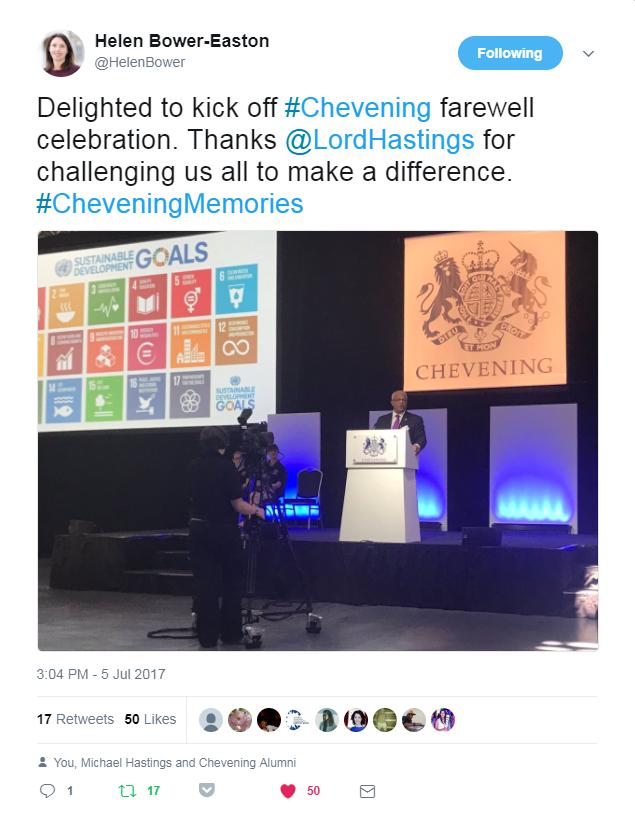 Tweet from Helen Bower-Easton