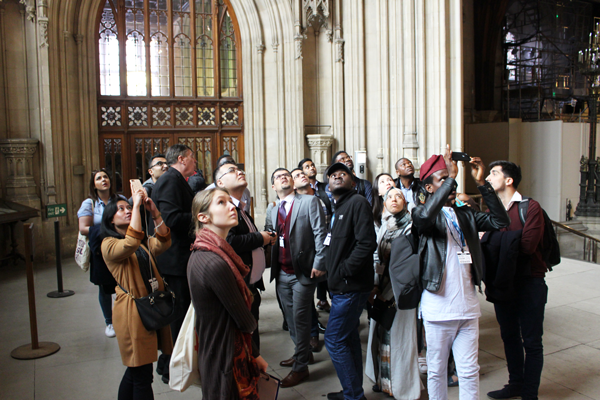 Scholars in Westminster Hall in the Houses of Parliament