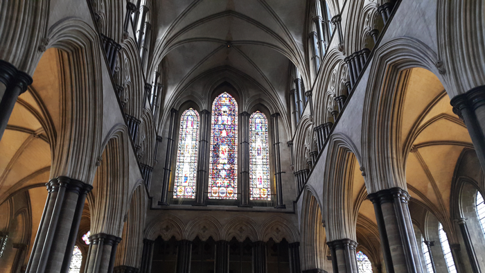 Inside Salisbury Cathdral