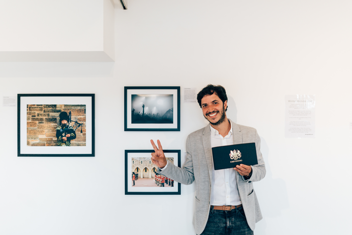 Juan David Restrepo and his winning photograph