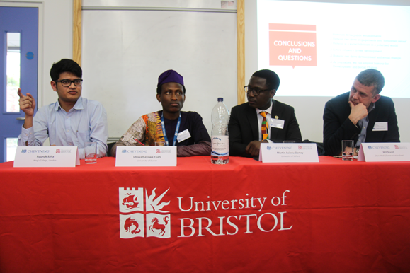 Media panel at Chevening Conference