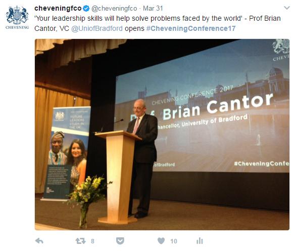 Professor Brian Cantor tweet