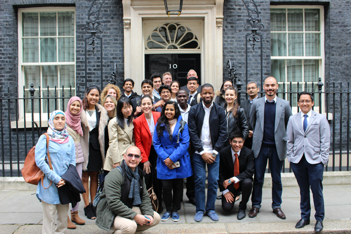 Scholars at 10 Downing Street