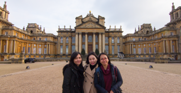Darathtey Din and friends at Blenheim Palace
