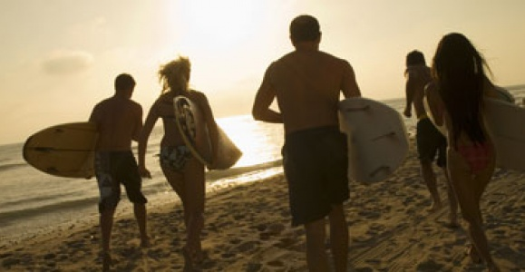 Surfing people