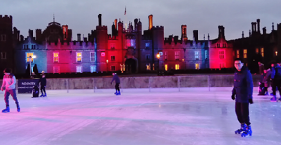 Chevening Scholars ice skating at Hampton Court Palace