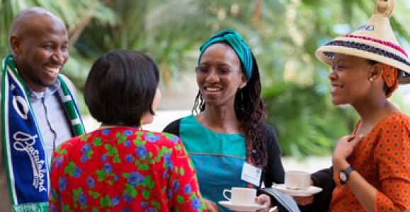 Scholars chat at Chevening Farewell 2016