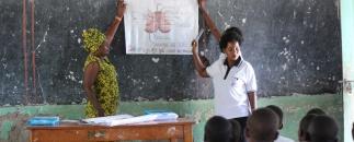 A menstrual health seminar in session