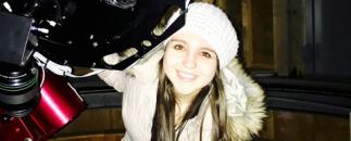 Camila Pantoja and the telescope