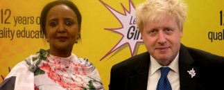 Amina Mohamed and Boris Johnson