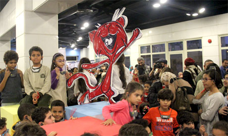 Opening of the 5th Hakawy International Arts Festival for Children at the Hanager Arts Centre, Cairo. 9 March 2015 (Photo: Ati Metwaly)