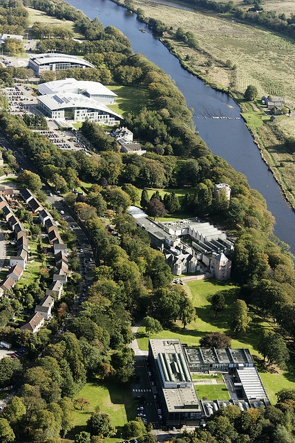 Robert Gordon University Garthdee campus arial photo