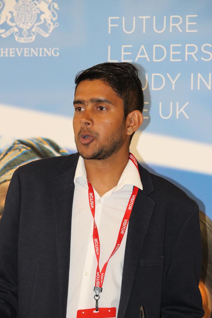 Winner of Scholar-Led Volunteer Project of the Year Avinash Jasgray