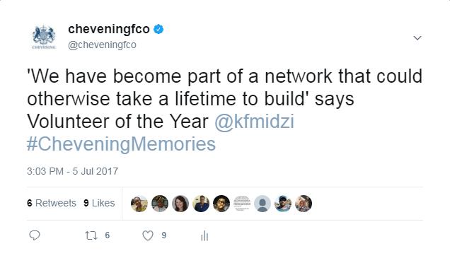 Tweet from Kudzai Midzi