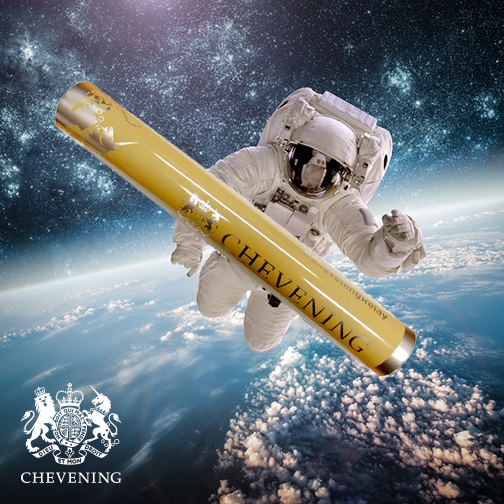 The baton will be taken on a space walk by an astronaut