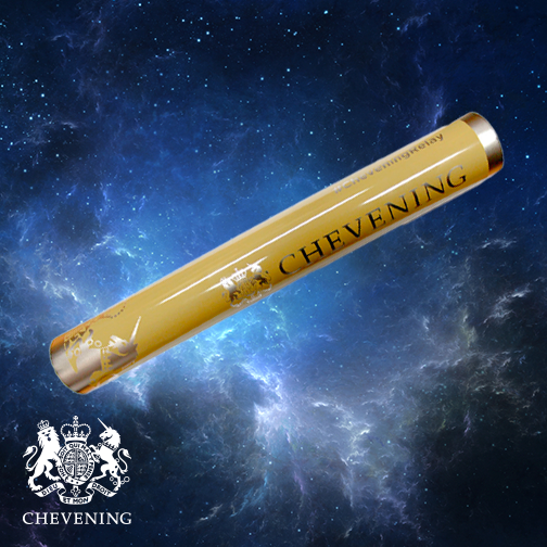 Artist's impression of the baton in space