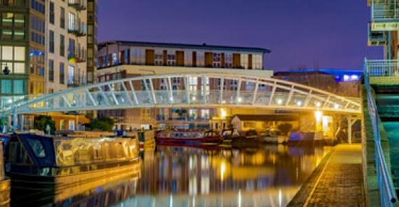 Birmingham canal at night