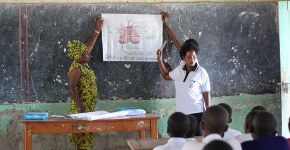 A menstrual health seminar in session