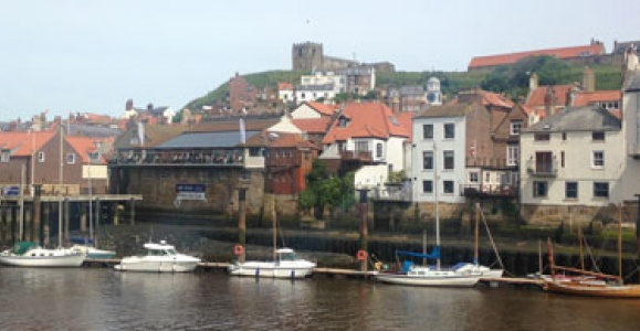 Boats in Whitby bay