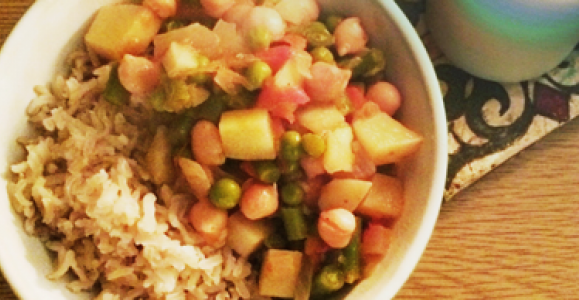Beans and vegetable stew