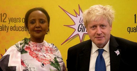 Amina Mohamed and Boris Johnson