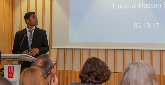 Junaid-ul-Hassan presents at British Library