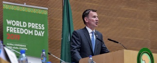 UK Foreign Secretary Jeremy Hunt at World Press Freedom Day celebrations in Ethiopia